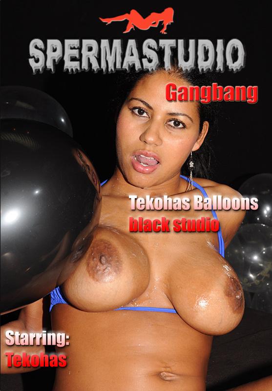 Tekohas - Balloon tekohas 2 black studio (Sperma-Studio) HD 720p