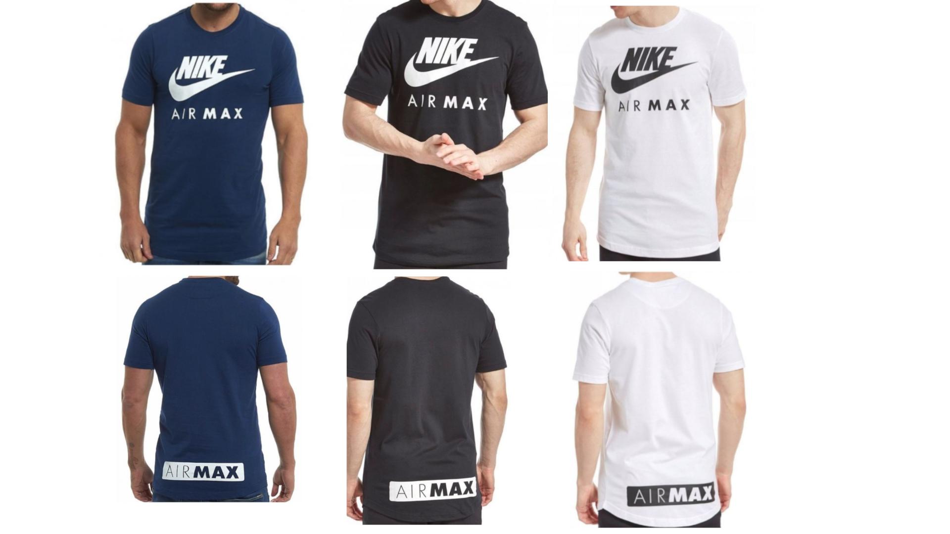 Nike Air Max Herren Sport T Shirt Blau Schwarz Weiß S M L XL