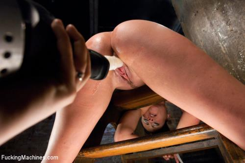 Ashli Ames - Her Body Tied Up, Her Legs Bound and Caned, Her Pussy full on Machines (HD)