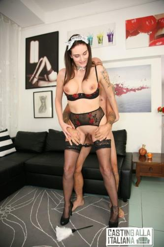 Marie Clarence - Squirting Italian maid Marie Clarence gets DP in hardcore MMF casting (2019/HD)