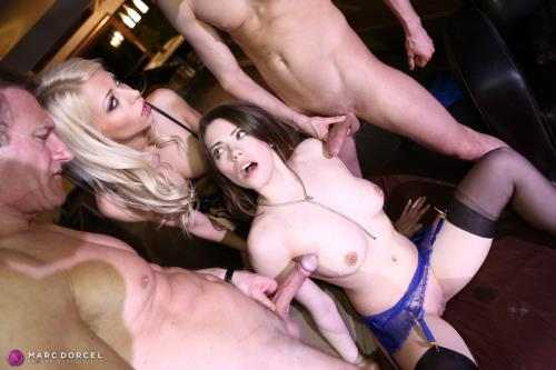 Chloe Lacourt, Manon Martin - Manon And Chloe Get Fucked At A Hard Friends Party (HD)
