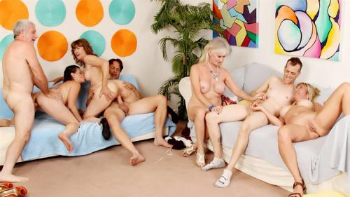Sky Haven, Babe Morgan, Michele Marks, Leah L'Amour - Aged to Perfection Orgy (FullHD)